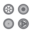 Set of wheel rims vector image