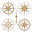 4 vintage compasses vector image