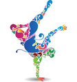flourish break dancer vector image