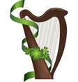 St Patricks Day harp vector image vector image
