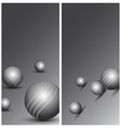 Abstract technology background with balls vector image