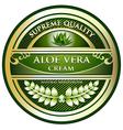 Aloe Vera Cream Label vector image