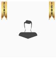 boy icon head silhouette vector image