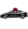 car with a bow as a gift vector image