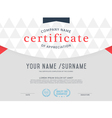 certificate template Vintage and Modern vector image