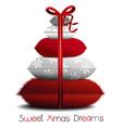 christmas pillows tree vector image