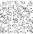 gems on white pattern vector image