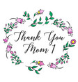 Greeting card mother day collection vector image