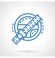 Safety while driving blue line icon vector image
