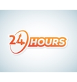 Twenty Four Hours Open Sticker Sign or vector image