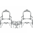 Royal Baroque Classic chair furniture set vector image