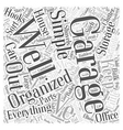 Garage Organization Made Simple Word Cloud Concept vector image