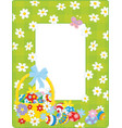 easter border vector image
