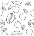 doodle of healthy fruit hand draw vector image