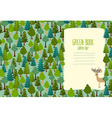 Earth Day Cover art for book template Green Book vector image