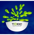 Abstract toxic color splash background vector image