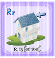 Alphabet R is for roof vector image