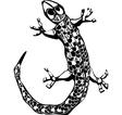 Simple lizard vector image vector image
