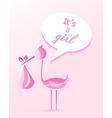 Baby shower girl invitation card design vector image