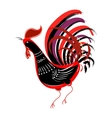 Color fire cock looking at left Chinese calendar vector image