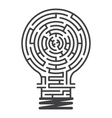 idea maze game white background vector image