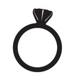 ring silhouette vector image