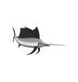 Sailfish Fish Jumping Retro vector image