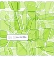 abstract glass mosaic green vector image