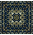 Dark blue bandanna with gold pattern vector image