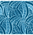 vintage pattern with patterned leaves vector image vector image