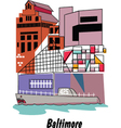 Baltimore vector image