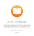 Ebook icon E-book symbol vector image
