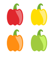 Set Colorful Bell Peppers Isolated vector image