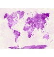 World map in watercolor pink vector image