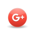Google plus icon simple style vector image
