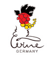 Logotype sign - wine from Germany vector image vector image