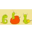 Green Worm vector image
