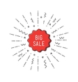 Big sale shining banner colorful background in vector image