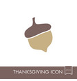 acorn icon harvest thanksgiving vector image