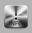 Chrome button vector image