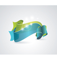 Green and blue transparent ribbons vector image