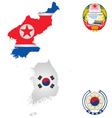 North and South Korea vector image