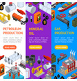 oil industry and energy resource banner vecrtical vector image