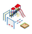 Outdoor Playground Elements Set Isometric View vector image