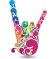 rockers hand vector image