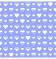 Seamless pattern cute white hearts on a blue vector image