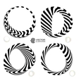 set of black and white 3d vector image