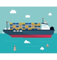 boat ship sea design vector image