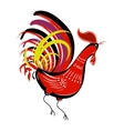 Color fire cock on white background looking at vector image