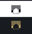 creative house or real estate logo design concept vector image